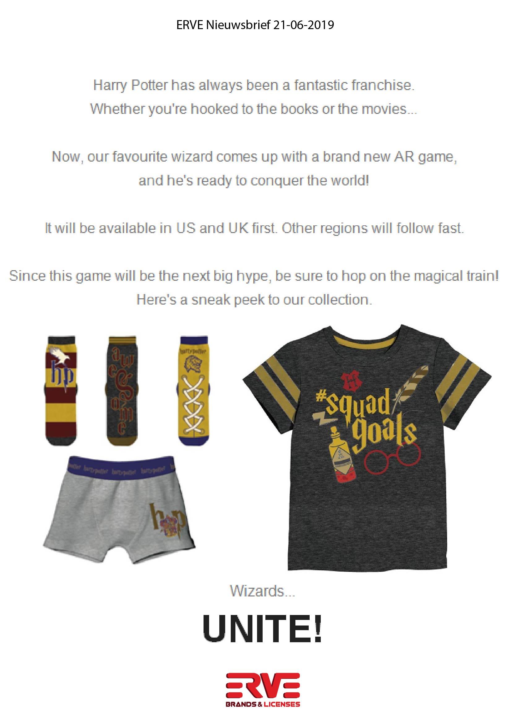 Harry Potter nieuwsbrief 21 juni 2019
