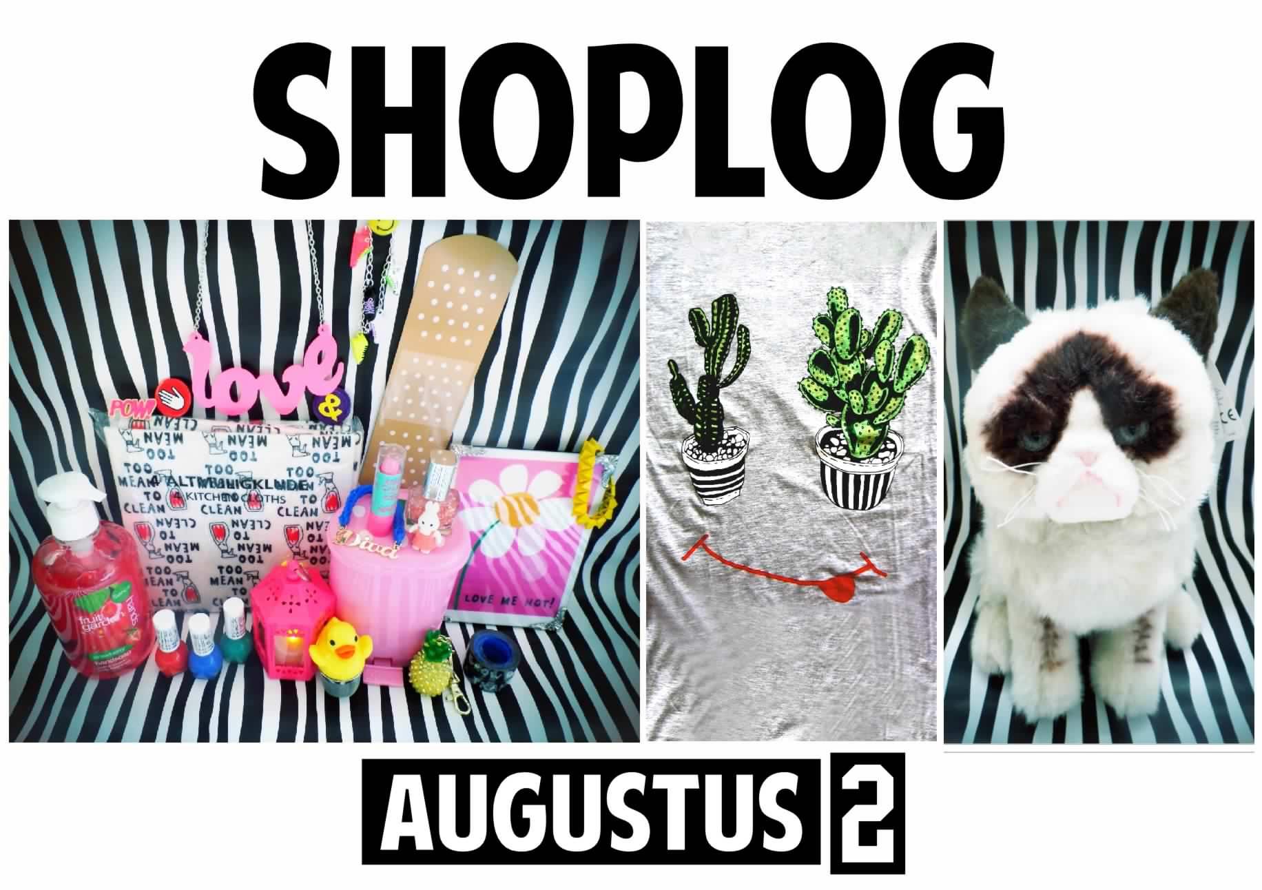 SHOPLOG augustus 2