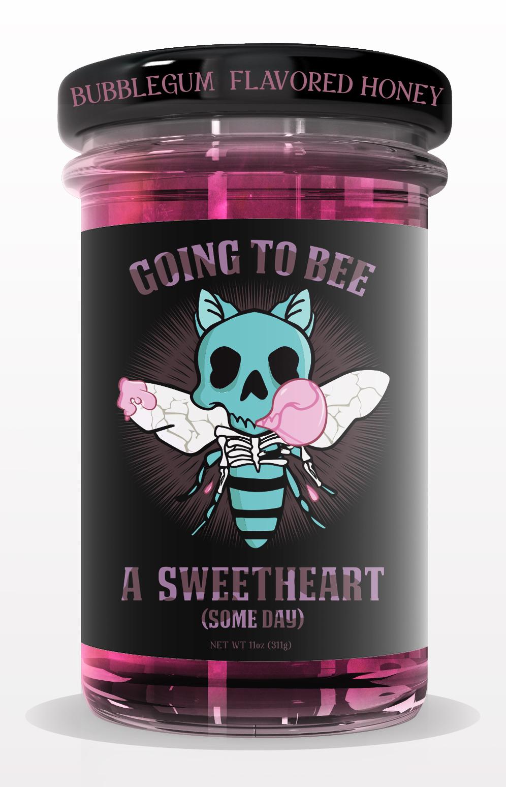 tighter jar HONEY jar mock up PINK