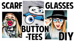 DIY scarf, glasses & button-tees