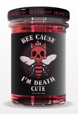 tighter jar HONEY jar mock up RED