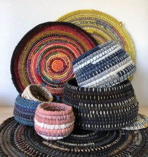Where to find recycled materials for basket making