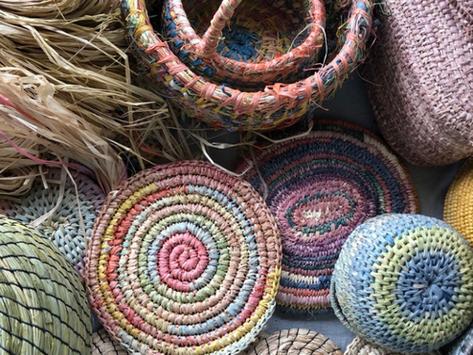 How to make a raffia basket