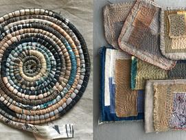 Textile Basket and Slow Stitching Bundle