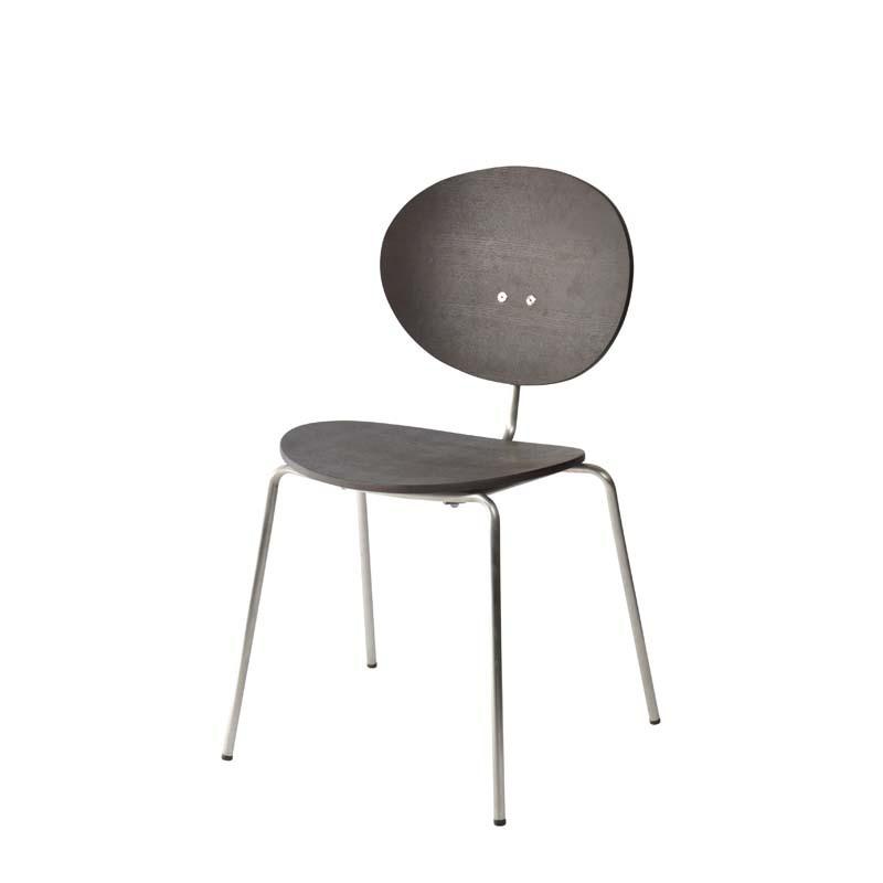 Ovni Side Chair Matte Black Front Quarter View
