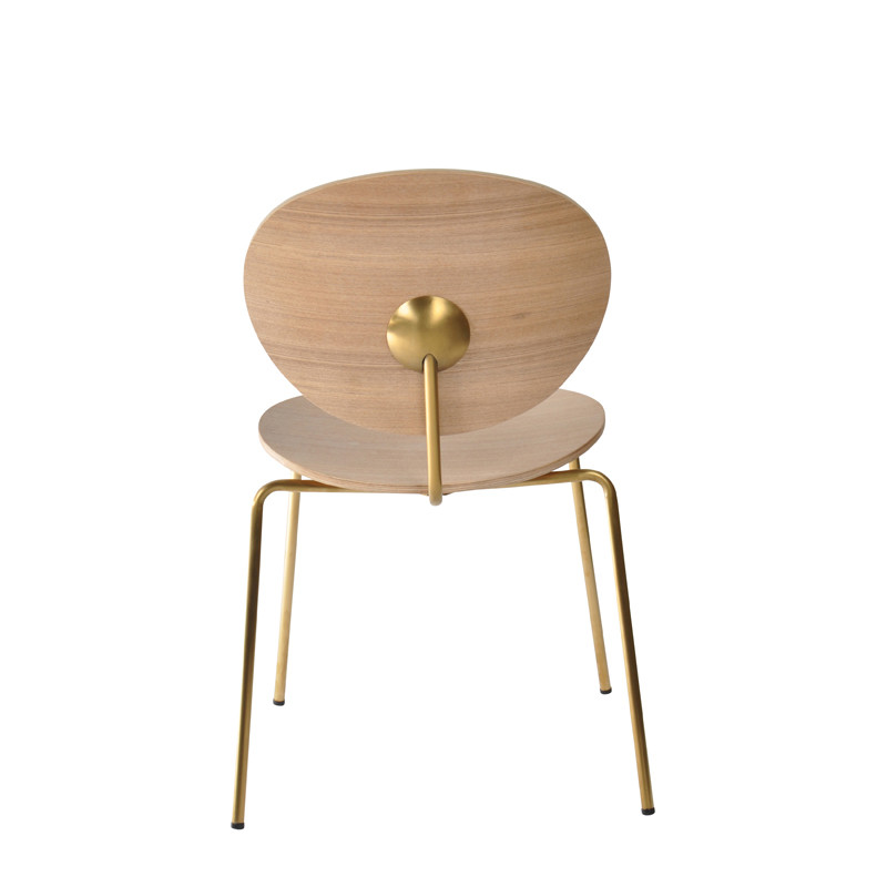 Ovni Side Chair Natural Back View