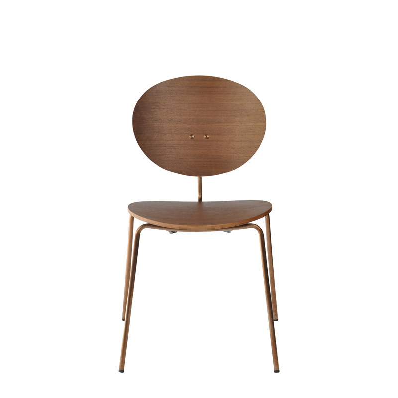 Ovni Side Chair Walnut Front View