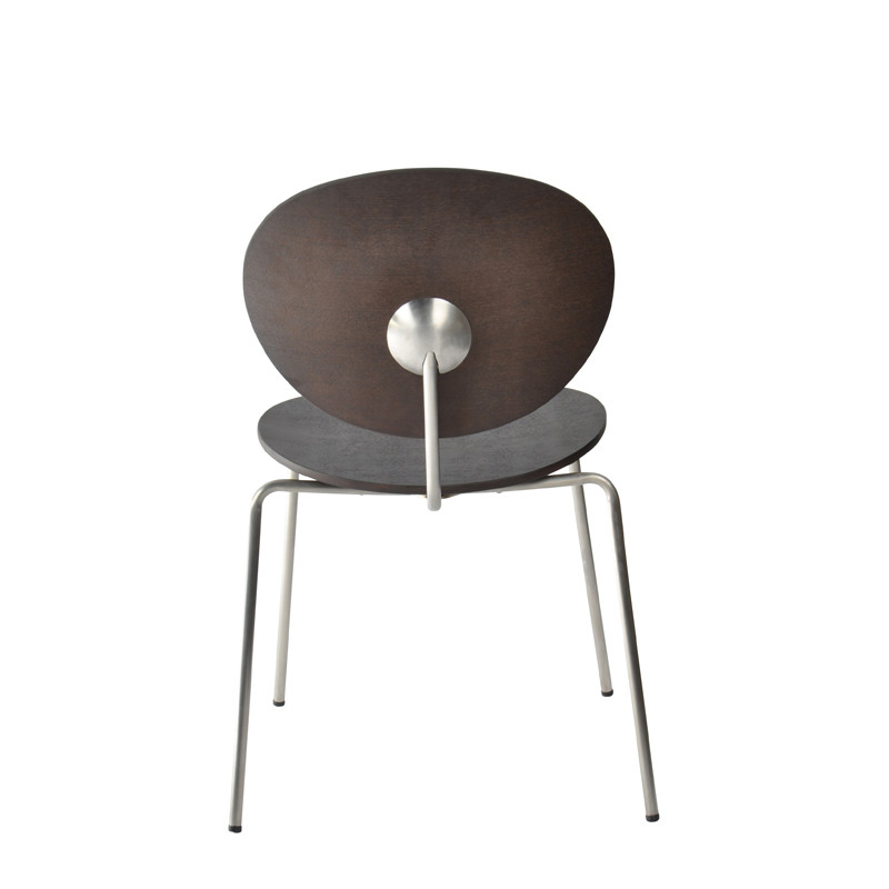 Ovni Side Chair Matte Black Back View