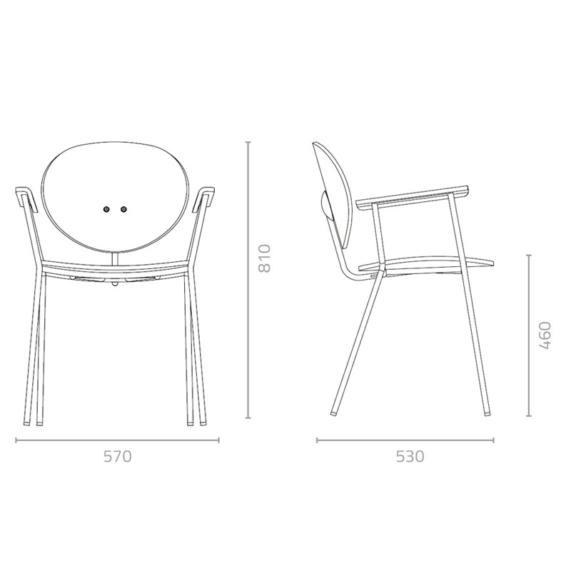 Ovni Arm Chair Measurement