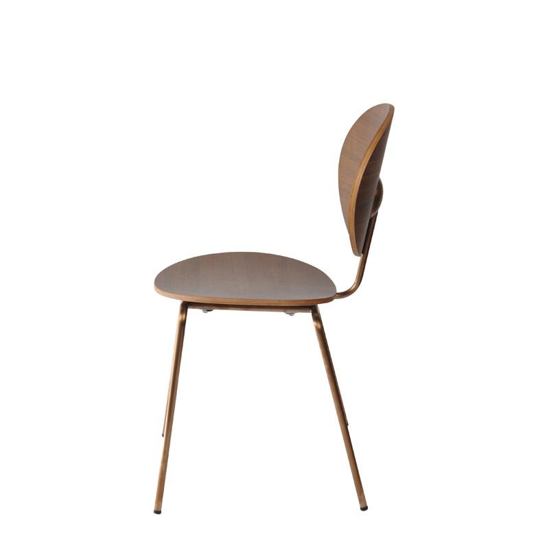Ovni Side Chair Walnut Side View
