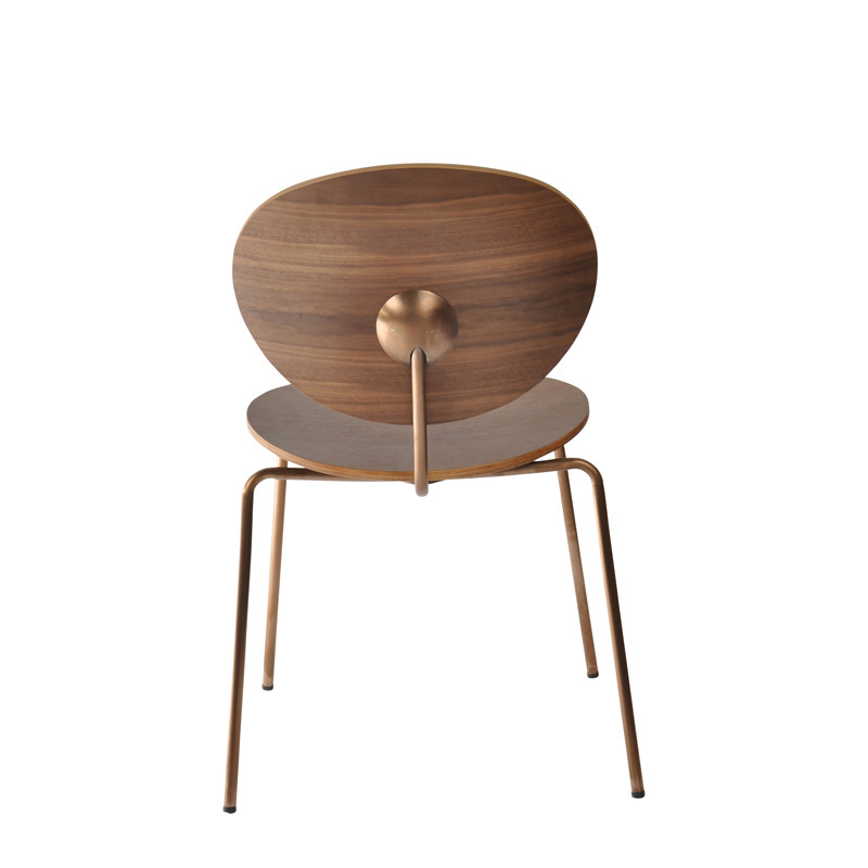 Ovni Side Chair Walnut Back View