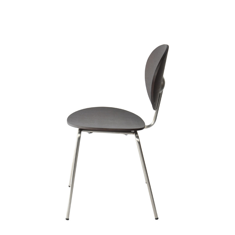Ovni Side Chair Matte Black Side View