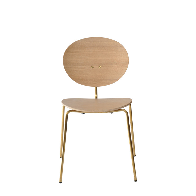 Ovni Side Chair Natural Front View