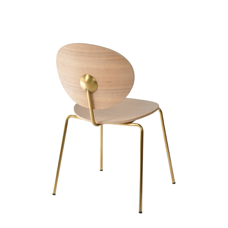 Ovni Side Chair Natural Back Quarter View