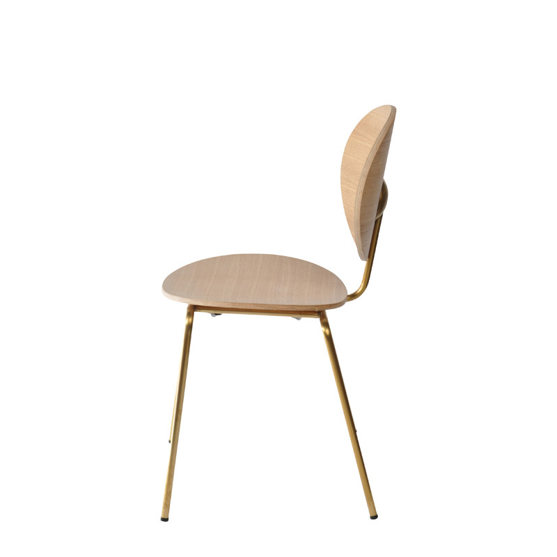 Ovni Side Chair Natural Side View