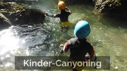 Canyoning-Tour für Kinder/Familien