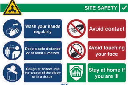 Covid-19 Site Safety Sign