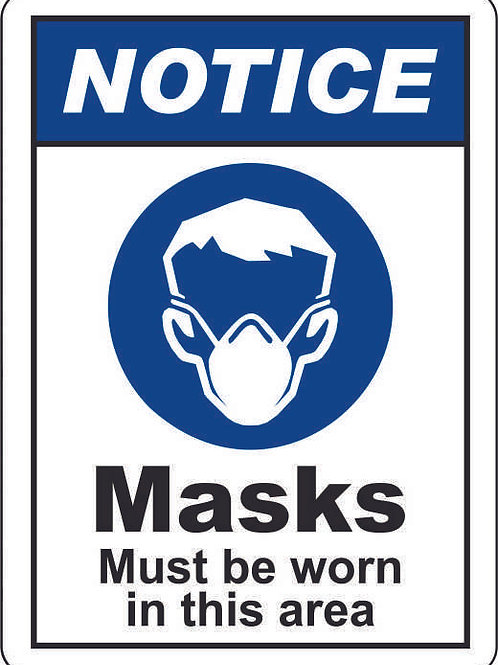 Mask Notice Sign