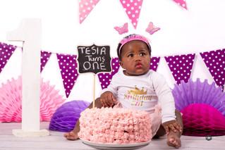 Tersia 1st Birthday Cakesmash