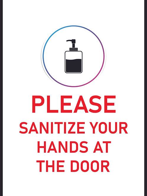 Please Sanitize Your Hands Sign
