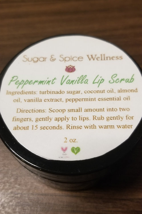 Peppermint Vanilla Lip Scrub