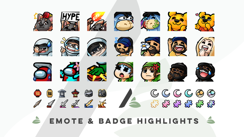 Emotes and badges