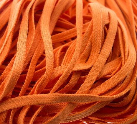 orange cotton shoe laces