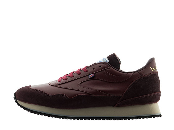 burgundy smart trainers