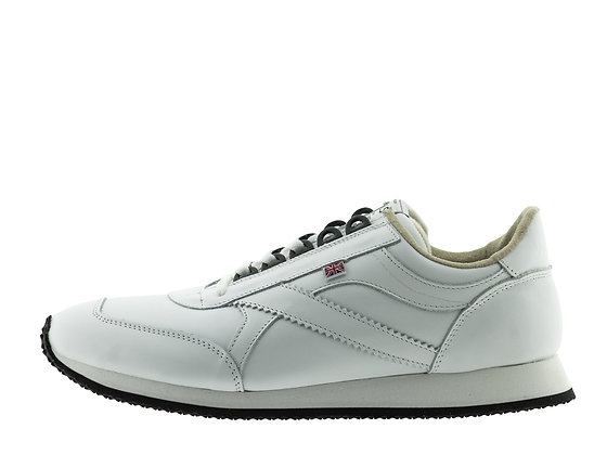 white leather UK made trainers