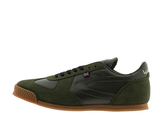 olive leather norman walsh trainers