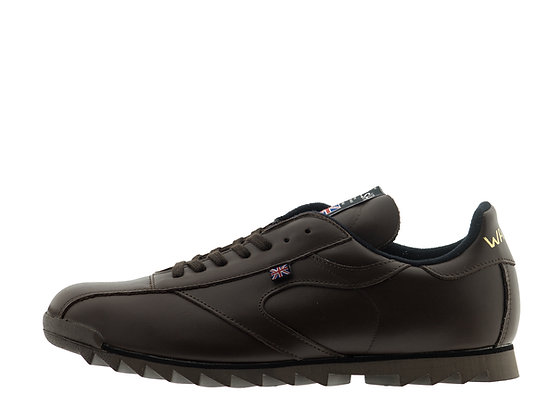 brown leather walsh trainers