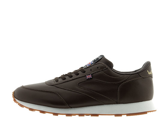 brown leather trainers