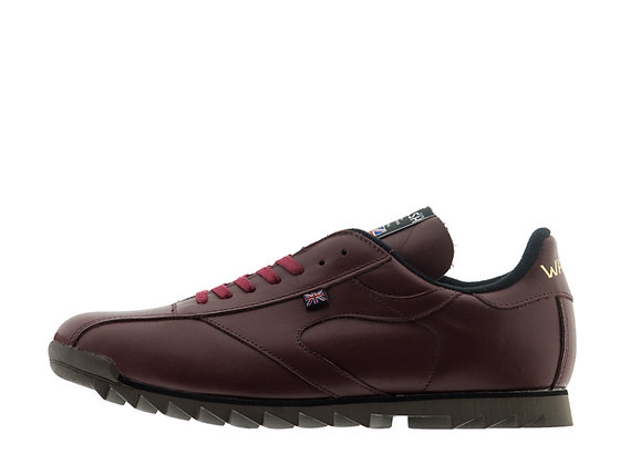 burgundy leather walsh footwear