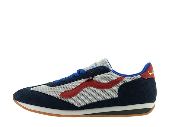 white blue red norman walsh trainers