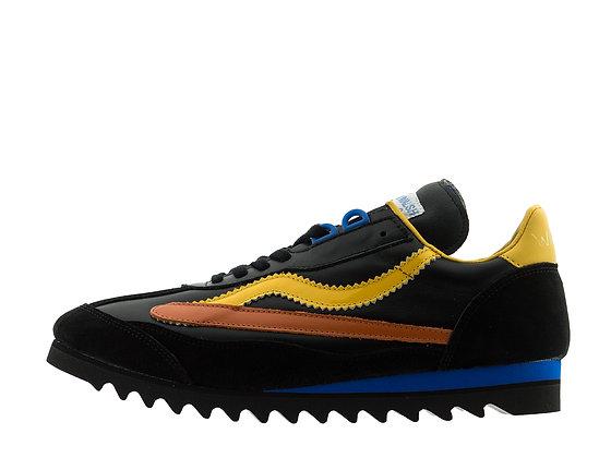 black bright fluorescent trainers