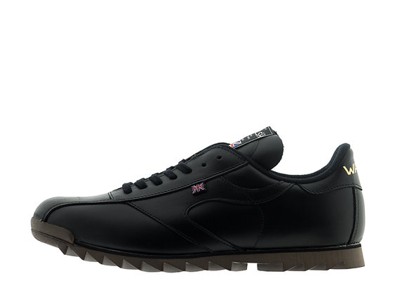black leather walsh shoes