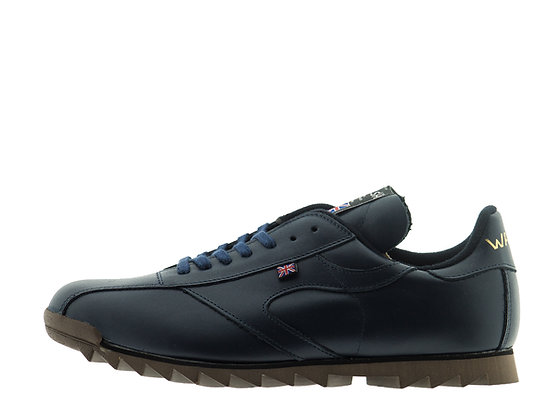 navy blue walsh leather shoes