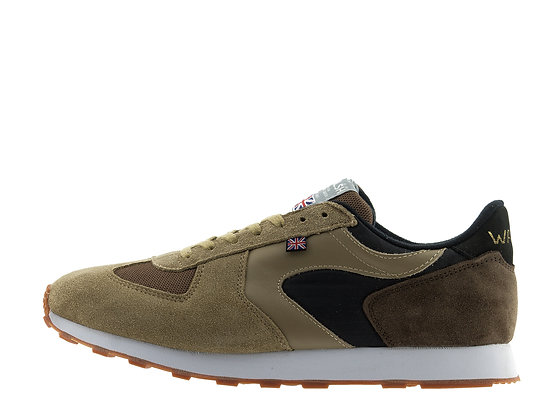 brown tan mixed trainers