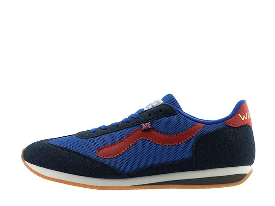 blue red vegan friendly trainers