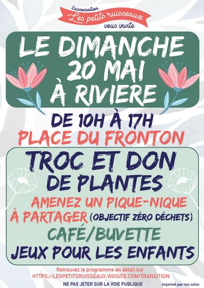 Troc des plantes à Rivière! Rendez-vous le 20 mai!