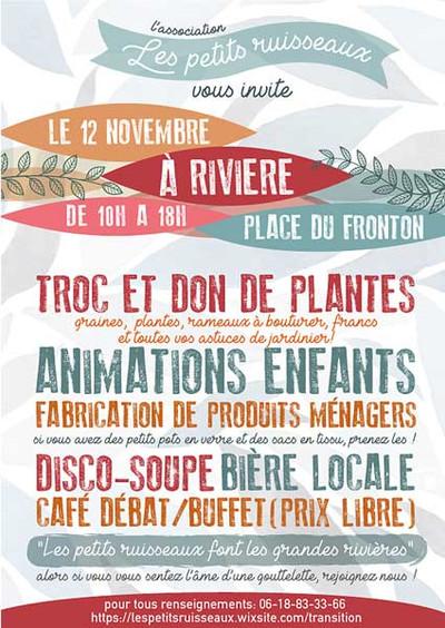Les Petits Ruisseaux se présentent                                           Le 12 novembre place du