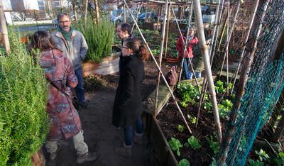 Visite des jardins partagés d'Egaliterre à Capbreton