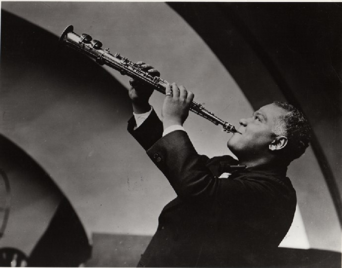 Sidney Bechet with horn resized