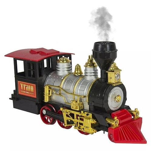 Tren a pila con humo