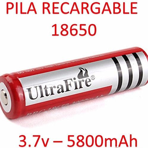 Pila recargable 18650