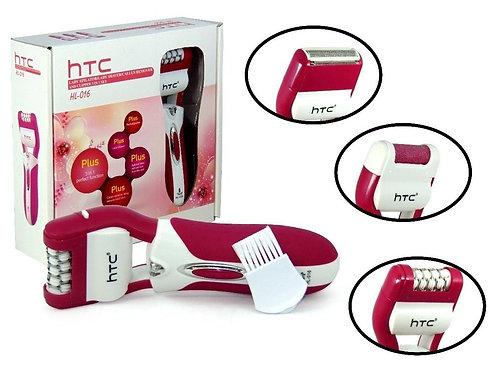 3 en 1 depiladora, rasuradora y eliminador de durezas HTC