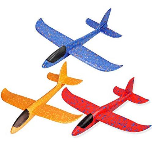 Avión planeador en espuma plast.