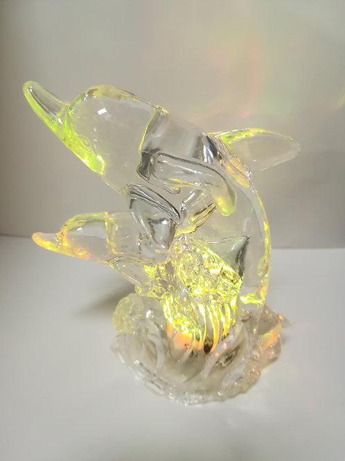 Delfin acrílico con luz