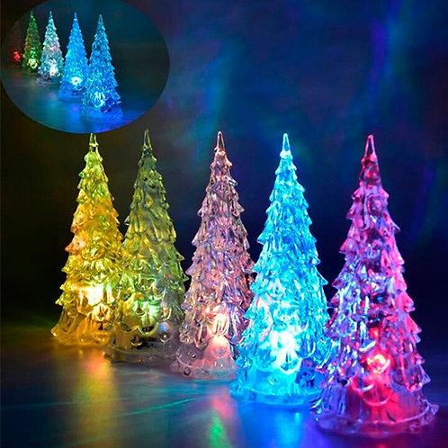 Adorno Navideño árbol de acrílico con luz led