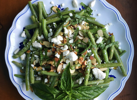 Green Bean Salad with Toasted Almonds & Feta